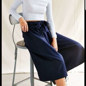 Urban Renewal Tie Front Wool Culottes